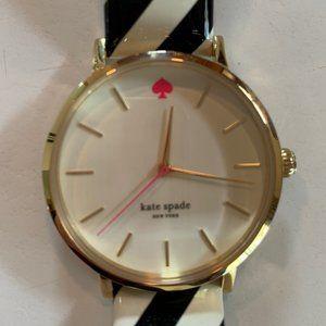 kate spade Watch Black & White Patent Band